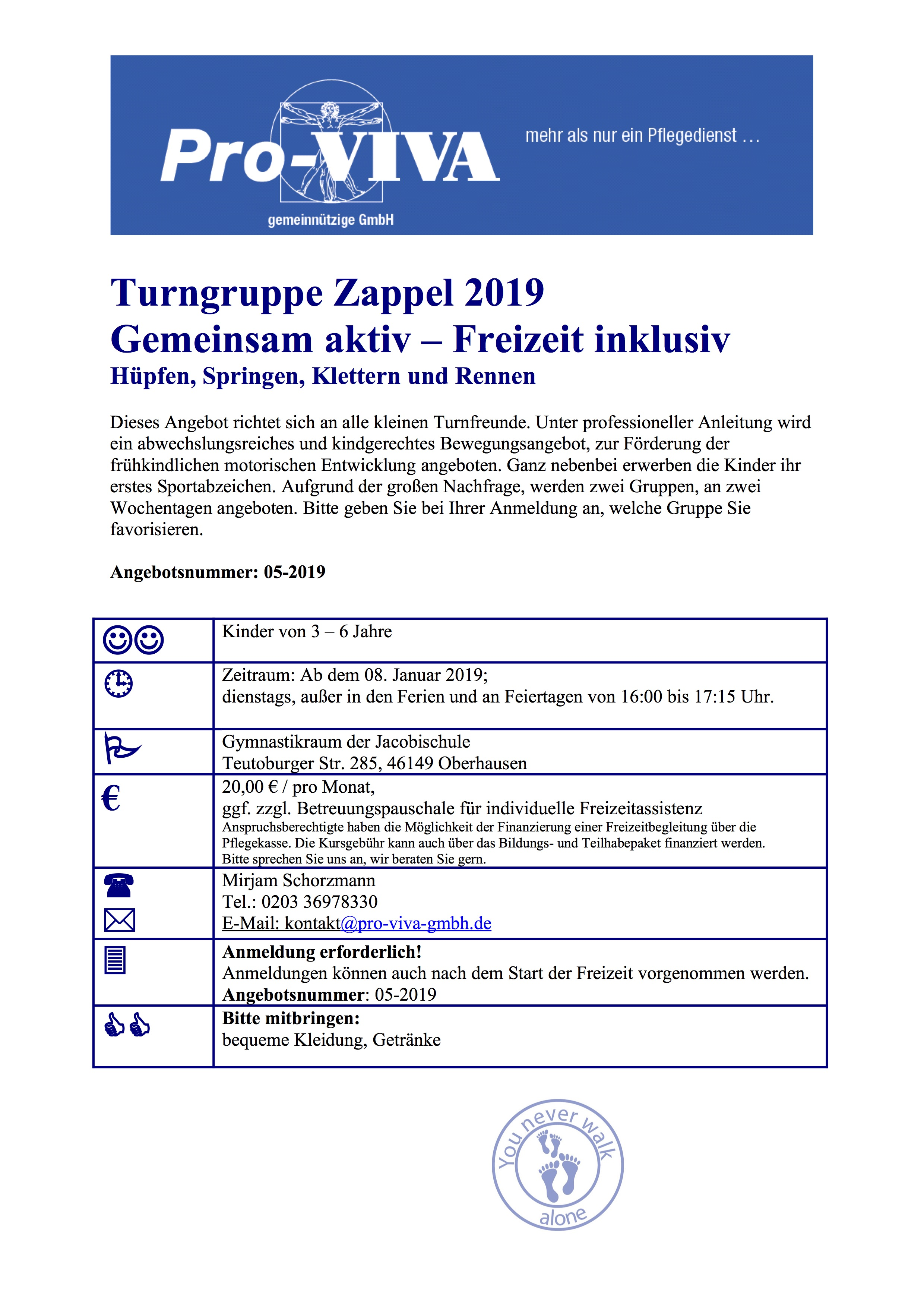 Flyer Turngruppe Zappel